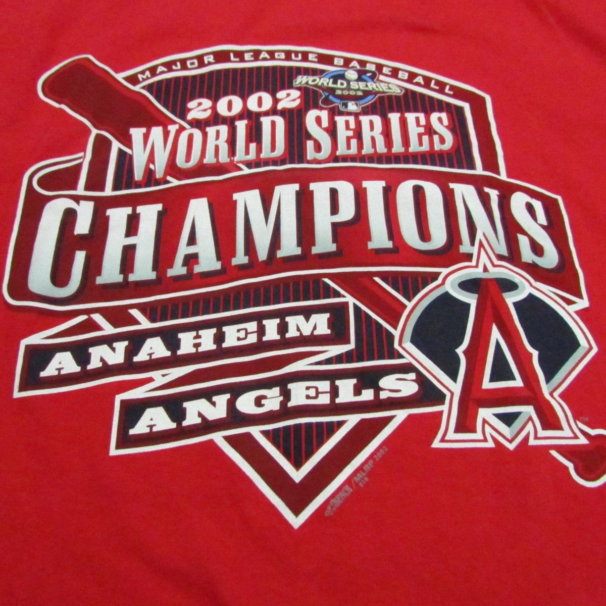 Anaheim Angels 2002 World Series Champions Baseball T-Shirt Sz L
