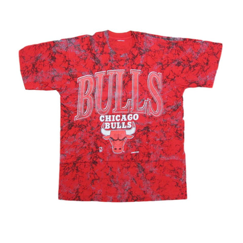 Chicago Bulls Red Camouflage Basketball T-Shirt Competitor Sz L