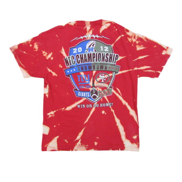 San Francisco 49ers vs New York Giants 2012 Championship Tie Dye T-Shirt Sz L
