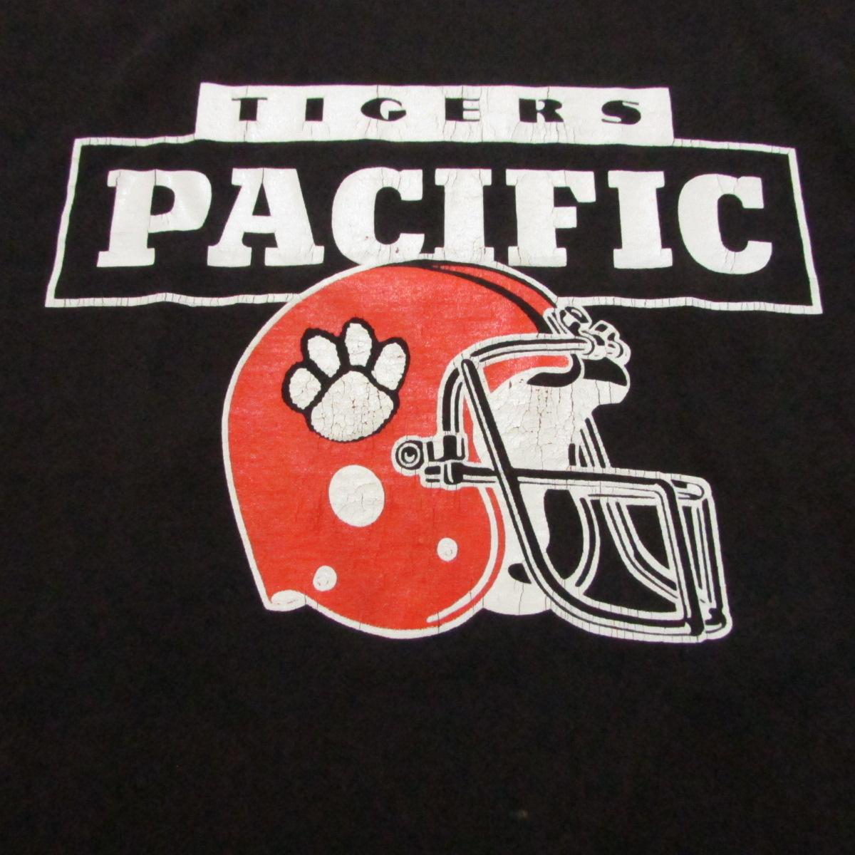 University of the Pacific Tigers College Football Deadstock 1995 T-Shirt Champion Sz L