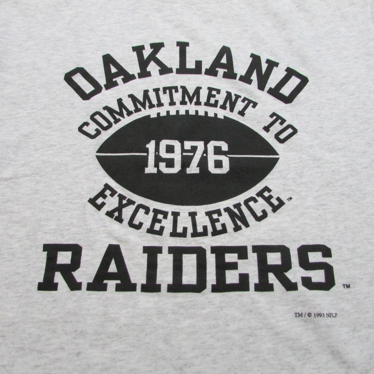 Oakland Raiders Commitment to Excellent Football T-Shirt Nutmeg Mills Sz M