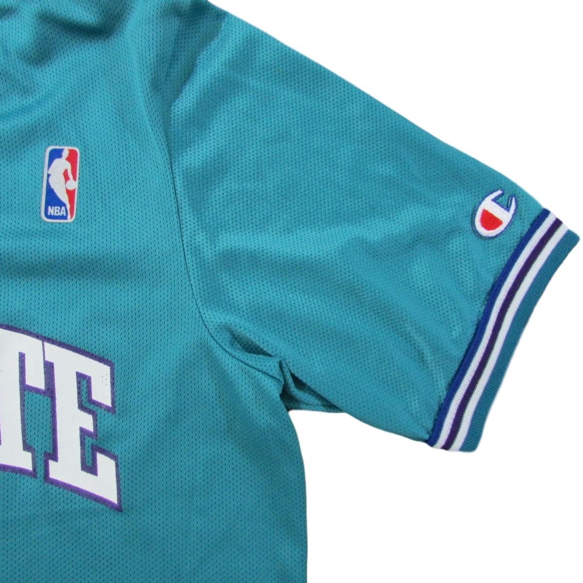 Charlotte Hornets Warm-Up Practice Basketball Jersey Shirt Champion Sz M