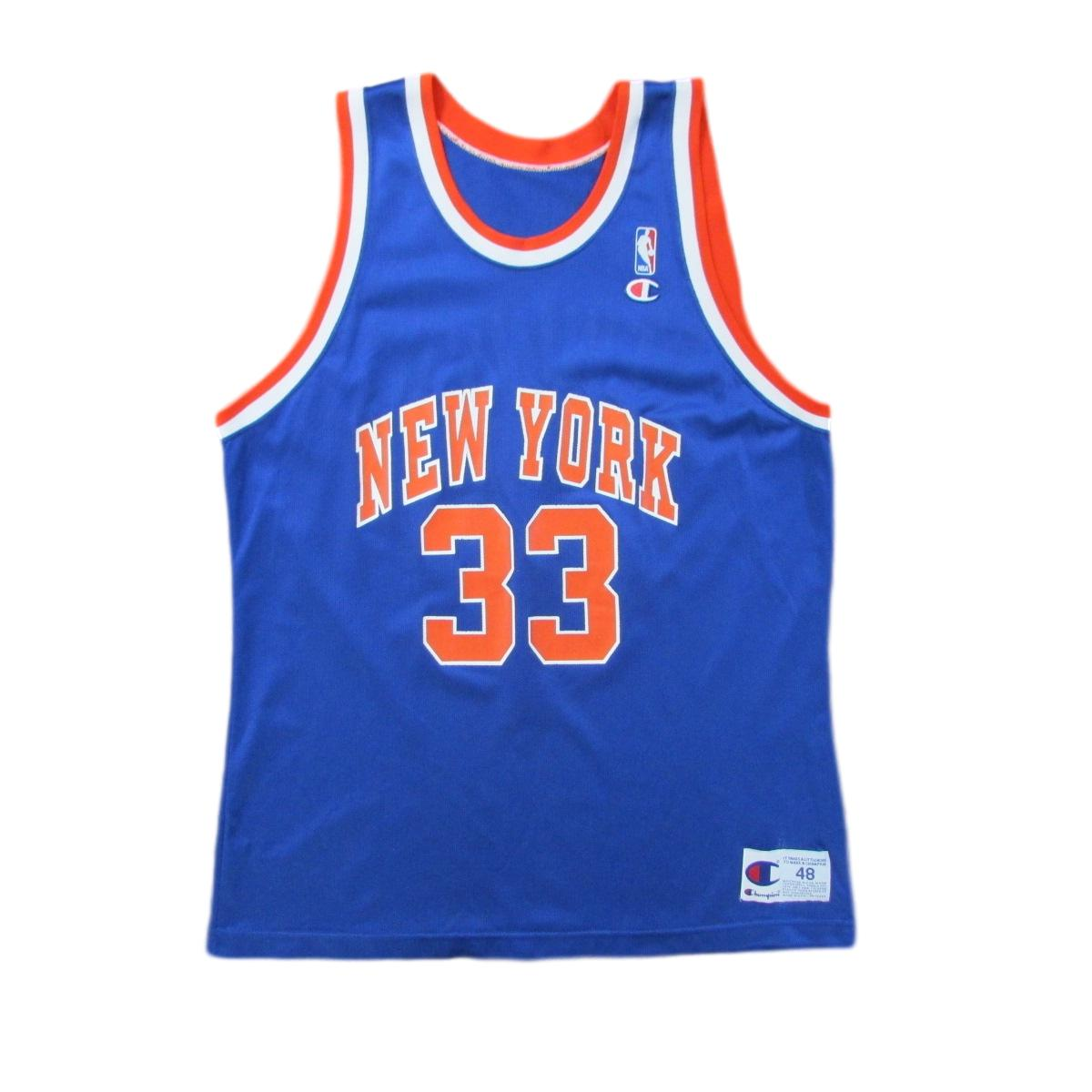 New York Knicks Patrick Ewing Basketball Champion Jersey Sz 48