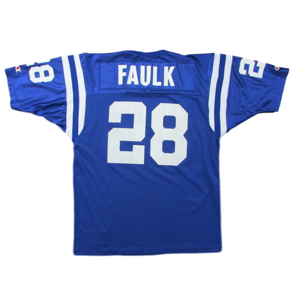 Indianapolis Colts Marshall Faulk Champion Football Jersey Sz 48