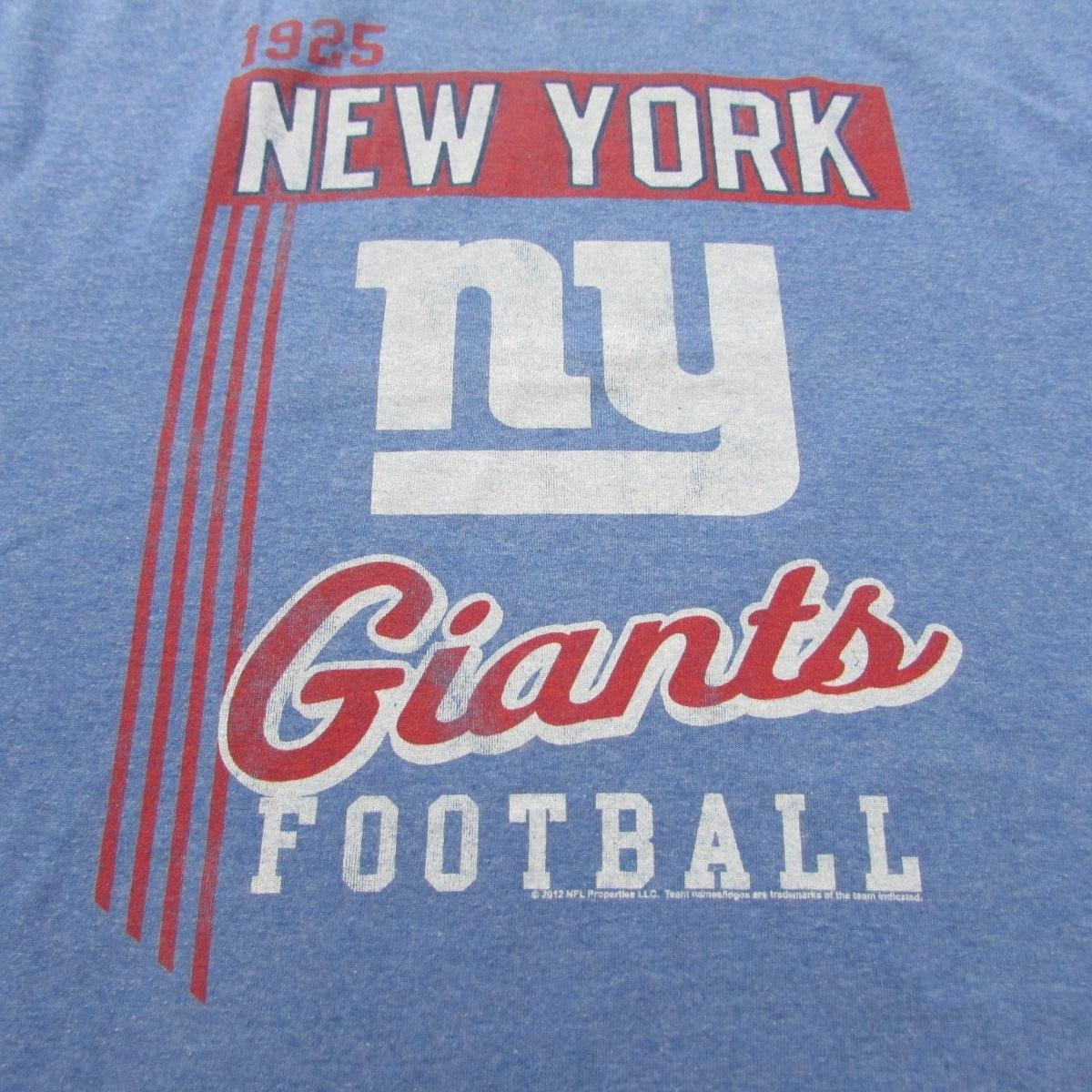 New York Giants Lightweight Football T-Shirt Junk Food Sz L