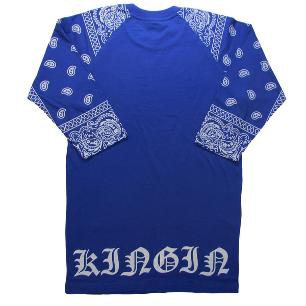 Last Kings Paisley KINGIN Dodger Blue Raglan T-Shirt