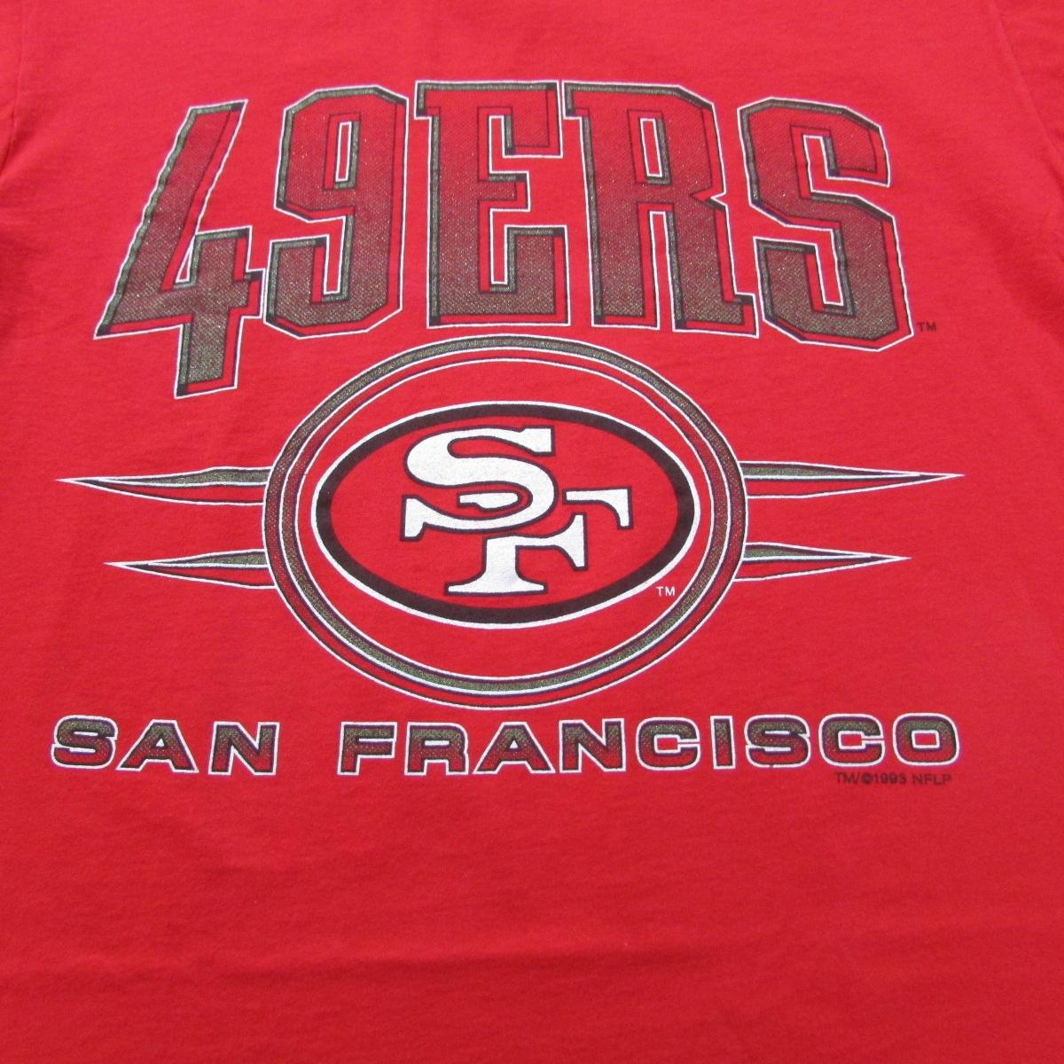 1993 San Francisco 49ers Double Tee Football T-Shirt Competitor Sz L