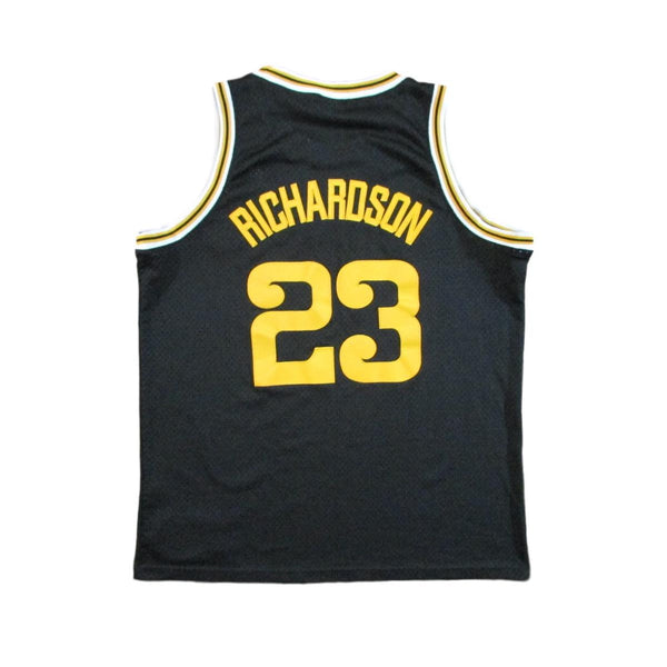 Golden State Warriors Jason Richardson Black 1975 Throwback Basketball Jersey Nike Sz XL