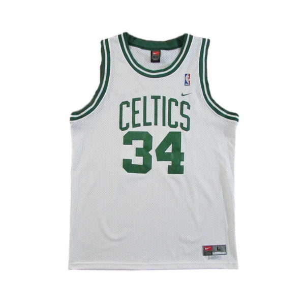 Boston Celtics Paul Piece Vintage Basketball Jeresey Nike Sz L