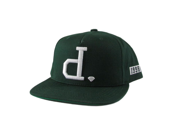 "Diamond Supply Co ""D"" Green Snapback Hat"