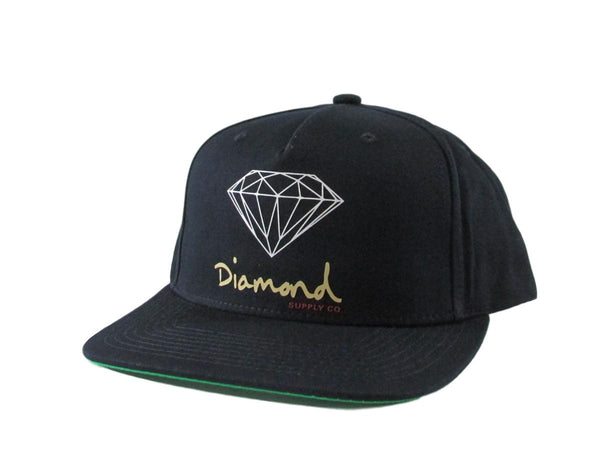 Diamond Supply Co Snapback Hat OG Gold Font