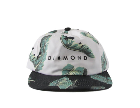 Diamond Supply Co Floral Hawaiian Print 5 Panel Snapback Hat