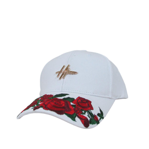 Hater Dad Cap Red Roses Snapback Hat