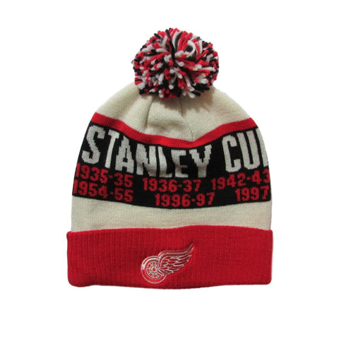 Detroit Red Wings Stanley Cup Champions Winter Pom Beanie