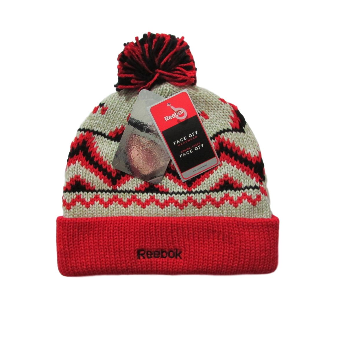 Chicago Blackhawks Hockey Pom Beanie Reebok