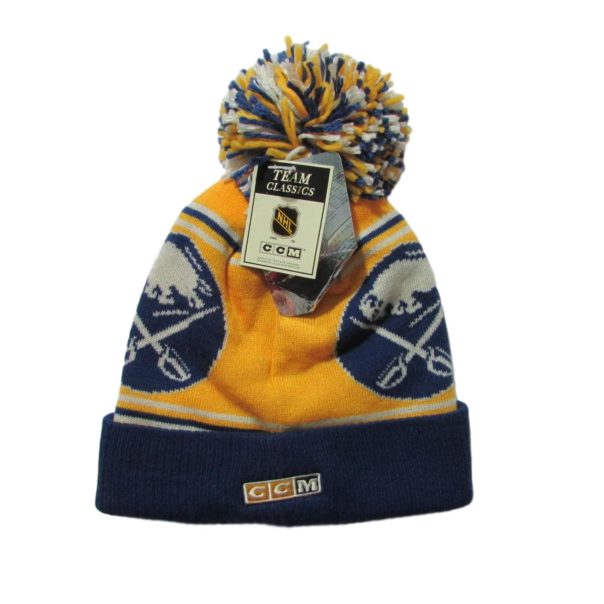 Buffalo Sabers Team Classics Hockey Pom Beanie