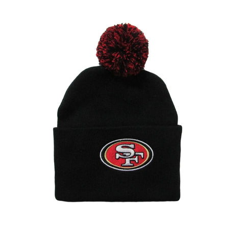San Francisco 49ers Pom Beanie Team NFL Large Cuff