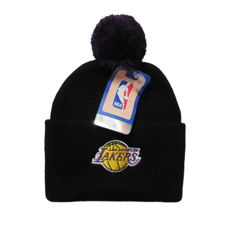 Los Angeles Lakers Basketball Pom Beanie Adidas