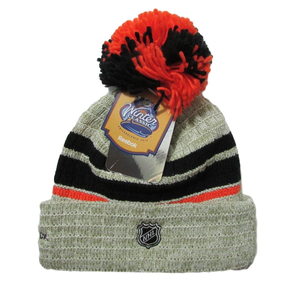 Philadelphia Flyers Winter Classic Hockey Pom Beanie