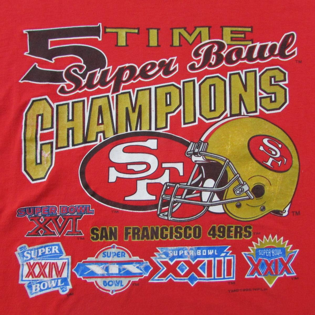 San Francisco 49ers 5 Time Super Bowl Champions Competitor Sz L