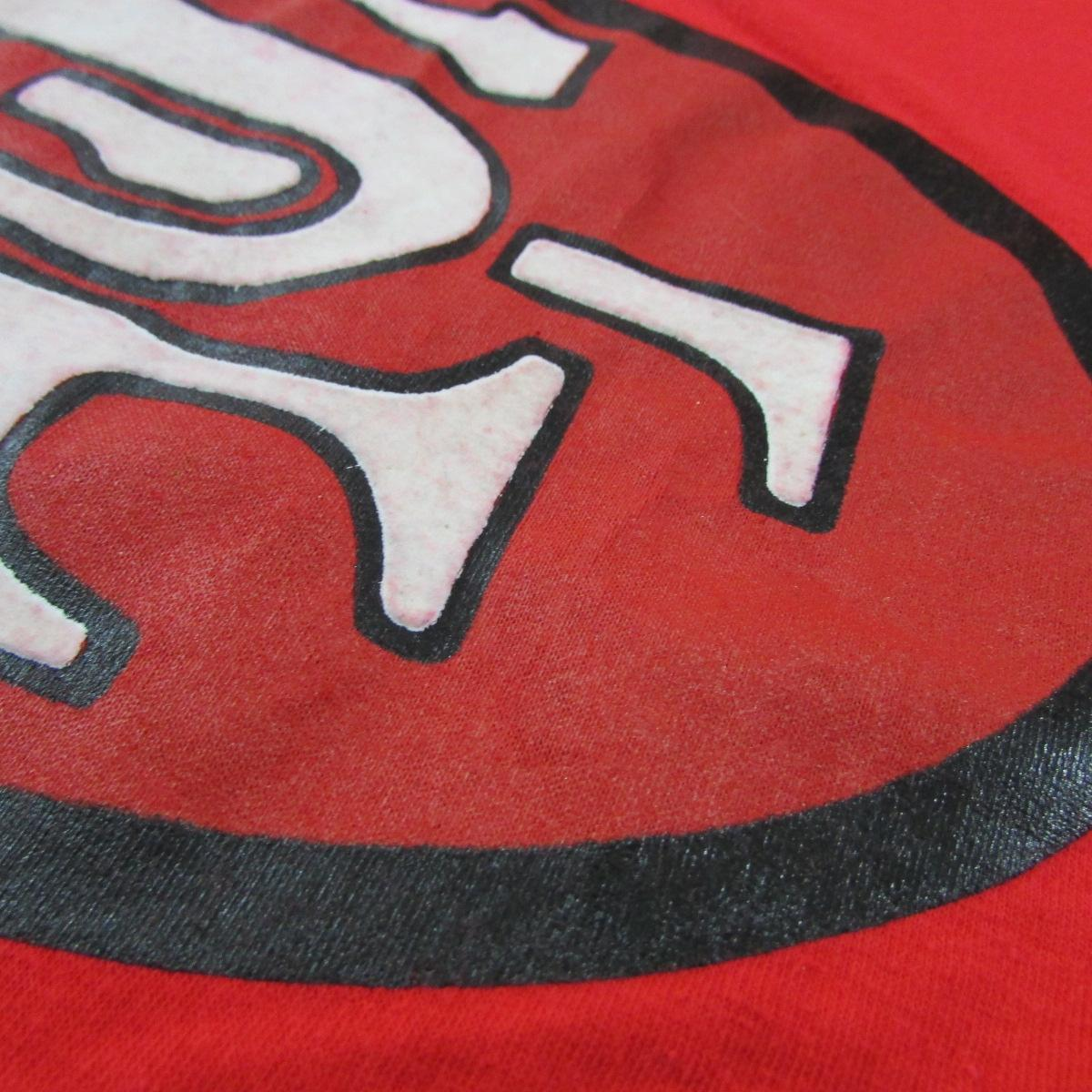 San Francisco 49ers Large Velour Logo T-Shirt Artex Sz L