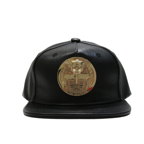 Hater Gold Pharaoh Leather Snapback Hat