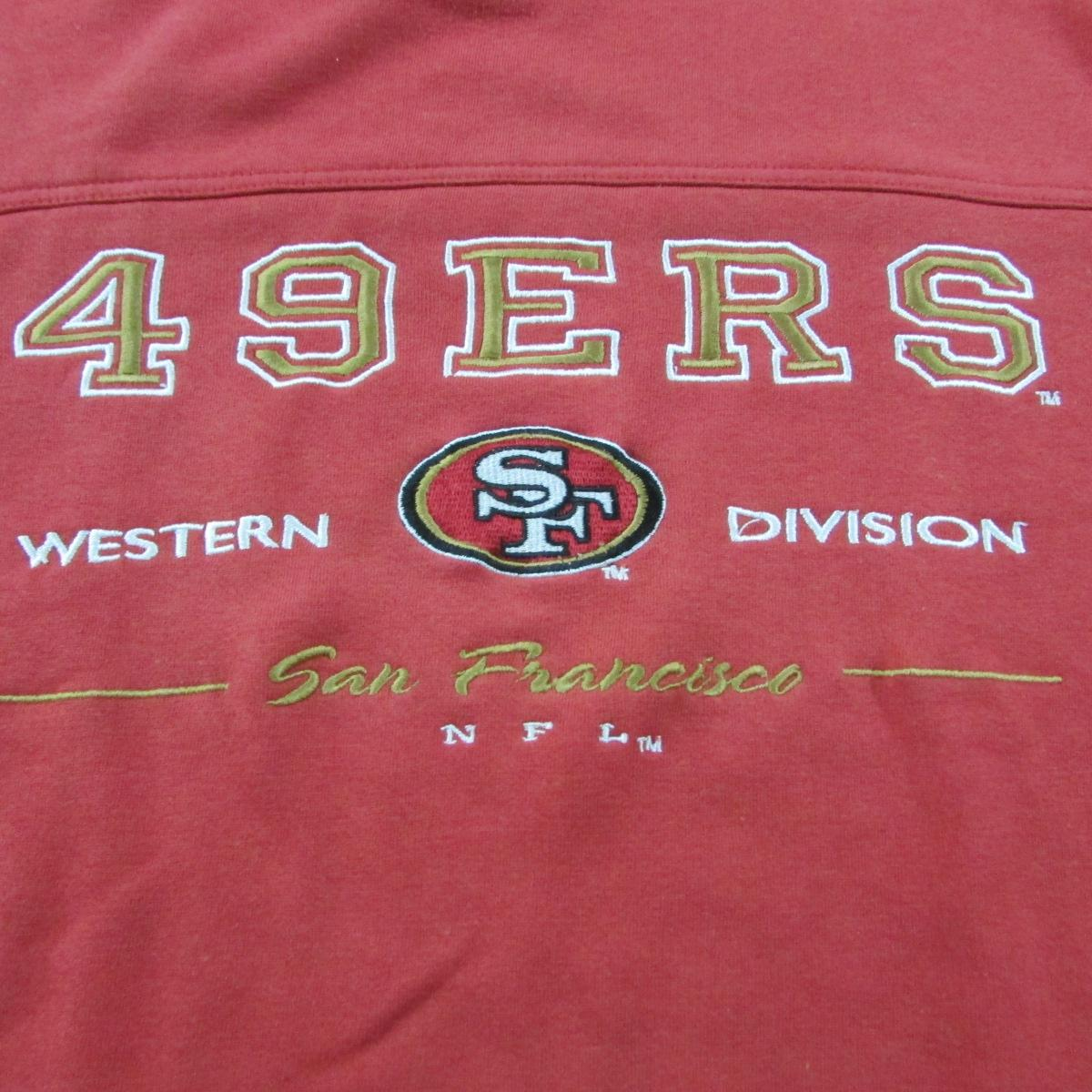 San Francisco 49ers Western Division Sweater Waist High Lee Sport Sz XL