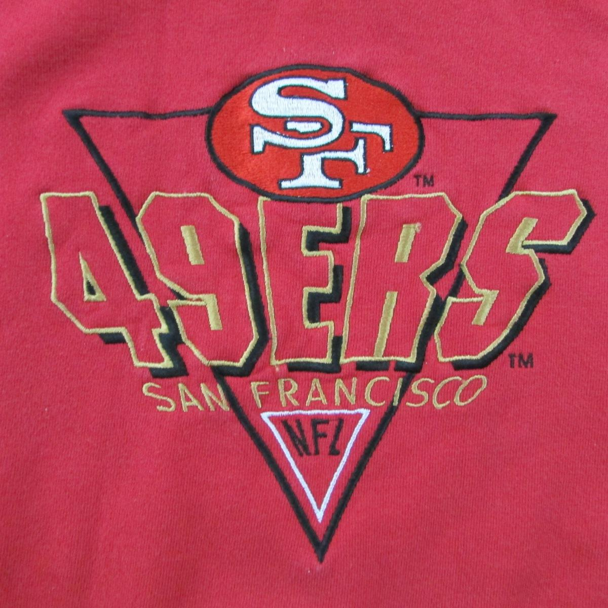San Francisco 49ers Hoodie Sweater Logo Athletic Sz L
