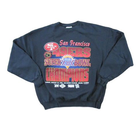 San Francisco 49ers Super Bowl XXIX Champions Vintage Sweater Sz XL