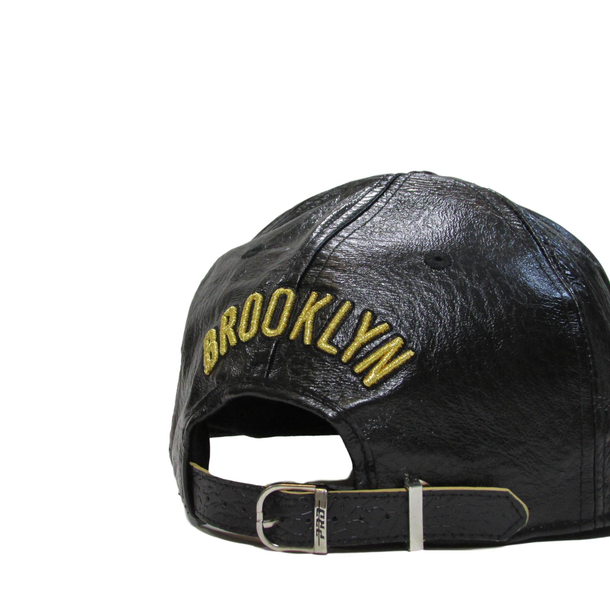 Brooklyn Nets Leather Strapback Hat Pro Standard