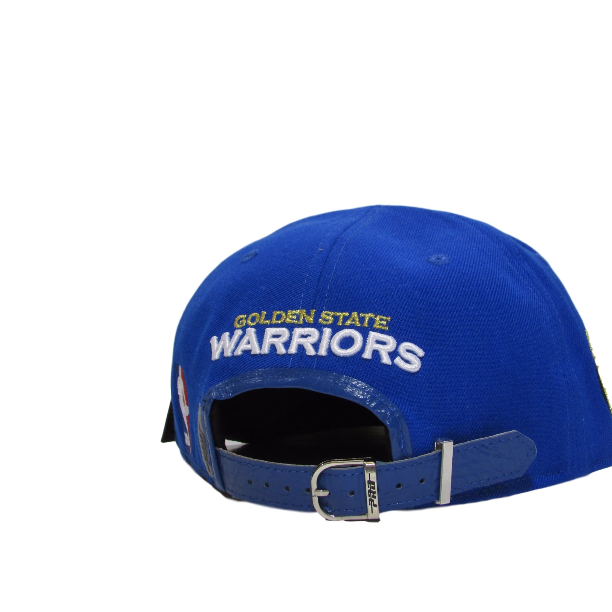 Golden State Warriors Blue Leather Strapback Hat Pro Standard