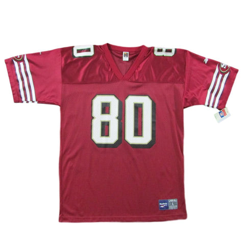San Francisco 49ers Jerry Rice Football Jersey Reebok Sz L