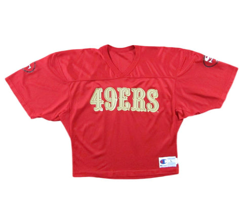 San Francisco 49ers Midriff Football Practice Jersey Champion Sz L