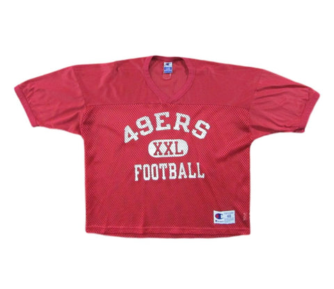 San Francisco 49ers Midriff Football Practice Jersey Champion Sz 48