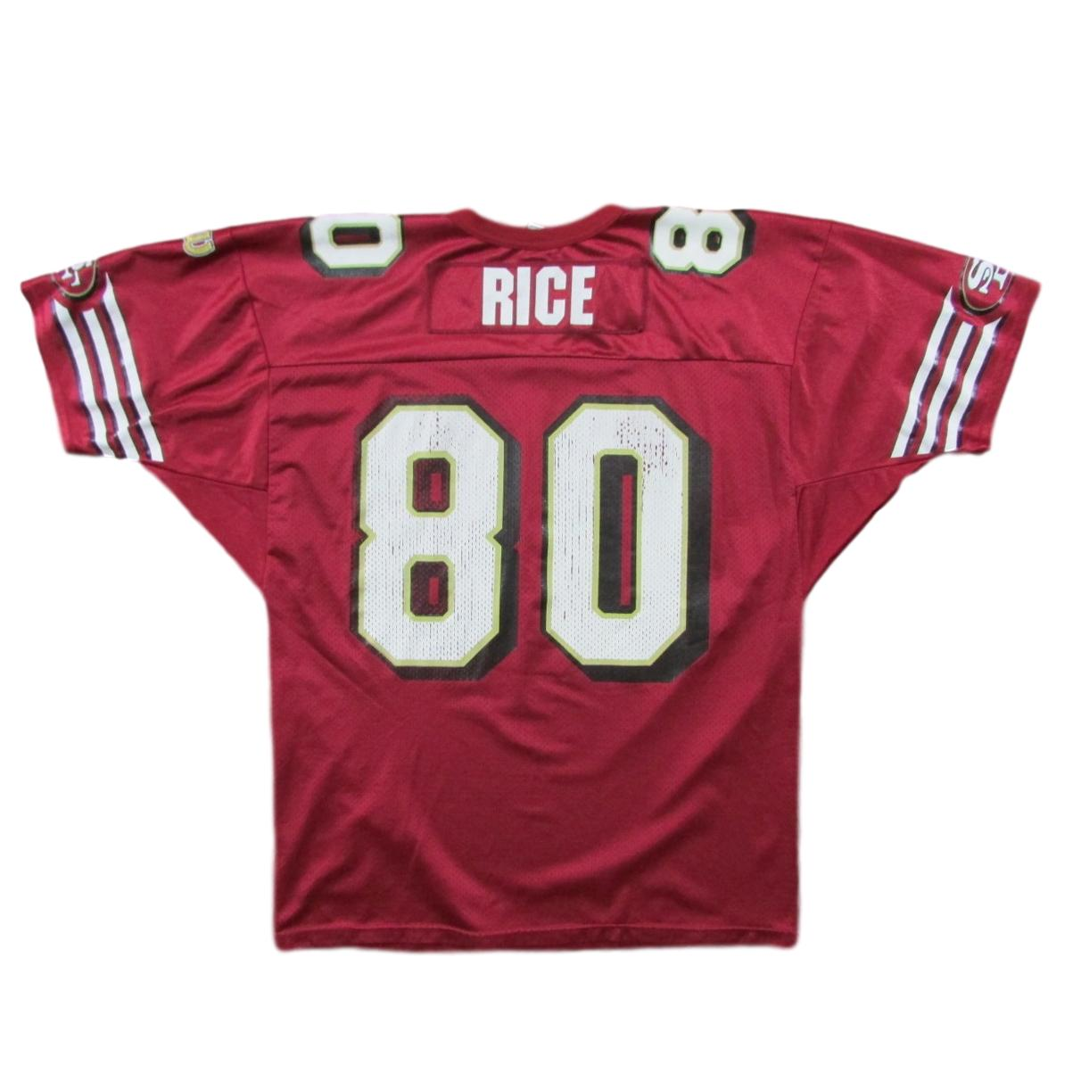 San Francisco 49ers Jerry Rice Football Jersey Wilson Sz 50