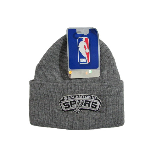 San Antonio Spurs Heather Gray Basketball Beanie