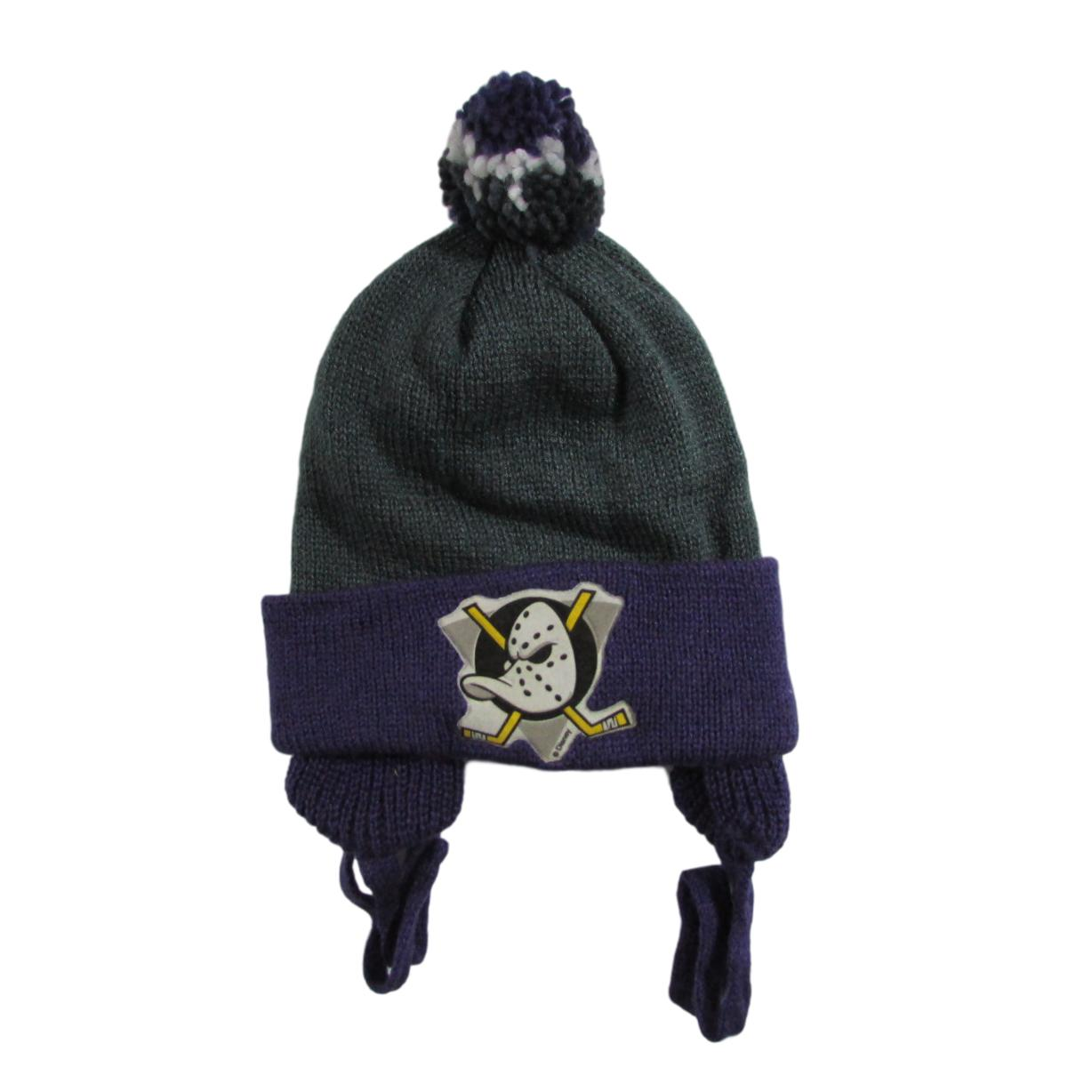 Mighty Ducks of Anaheim Deadstock 1993 Hockey Pom Beanie Logo 7