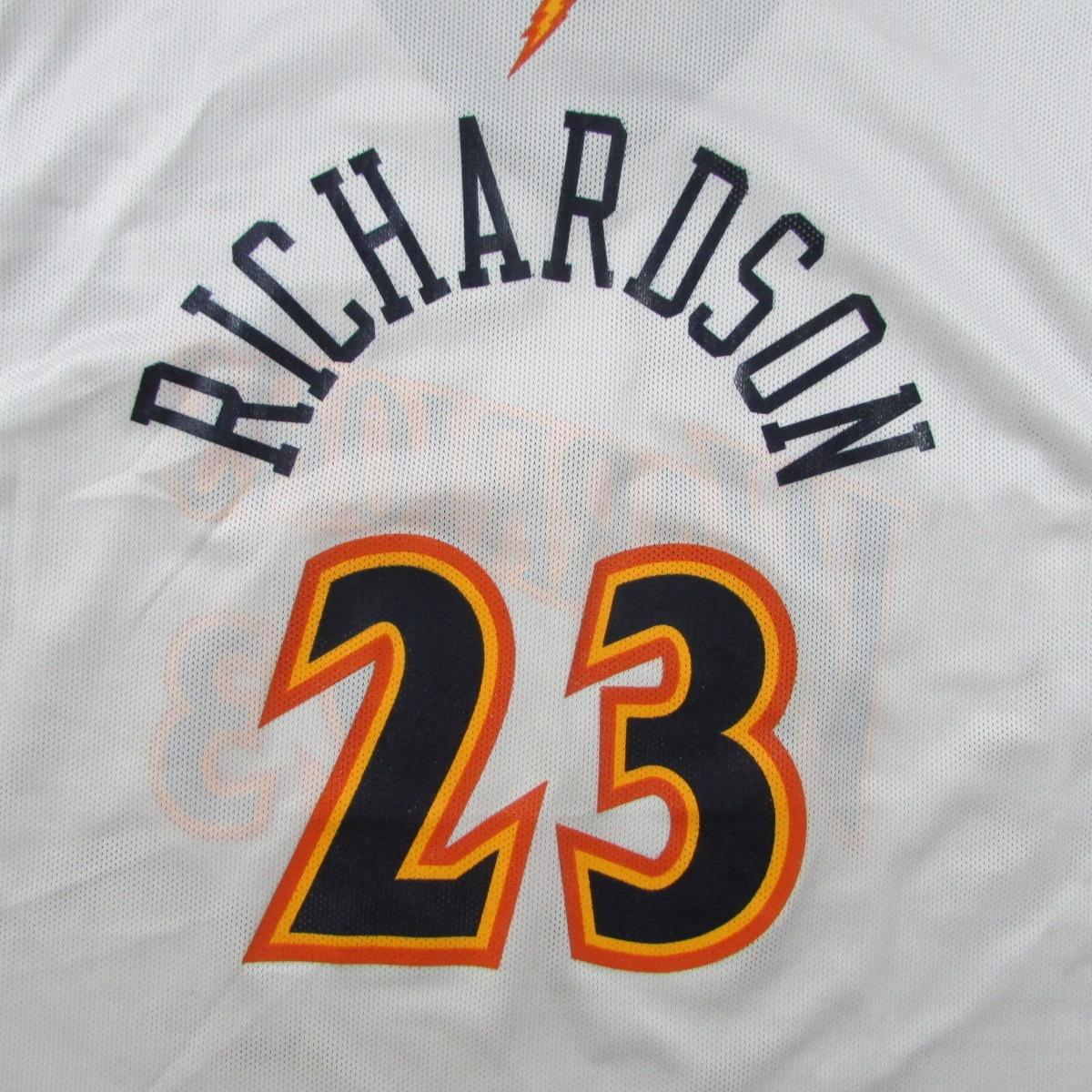 Golden State Warriors Jason Richardson Champion Basketball Jersey Sz 48