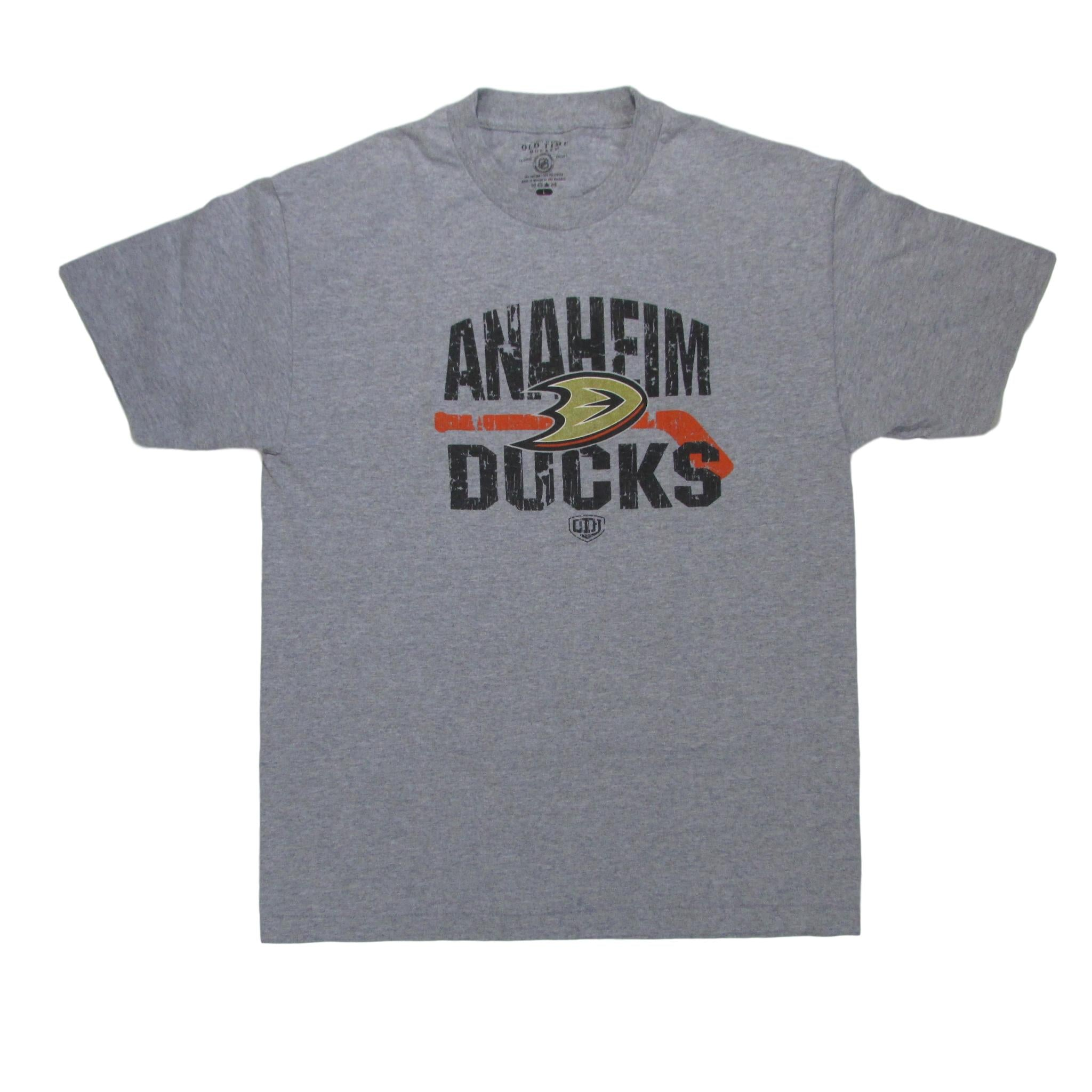 Anaheim Ducks Grey Hockey NHL T-Shirt Sz L