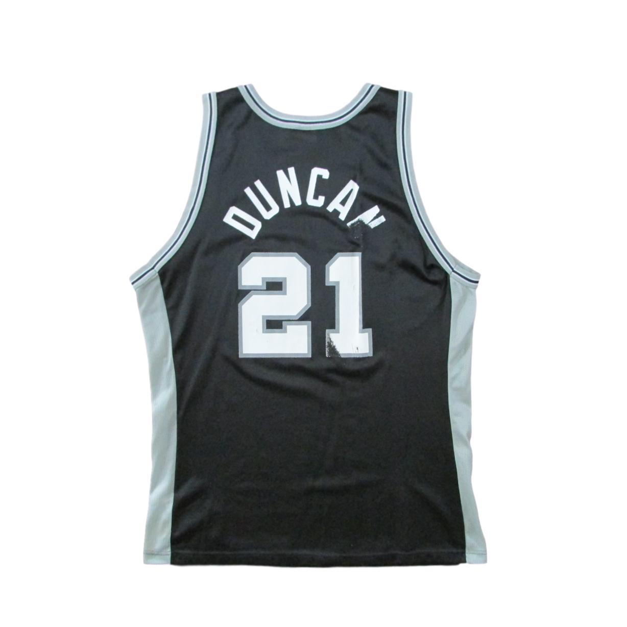 San Antonio Spurs Tim Duncan Basketball Champion Jersey Sz 48