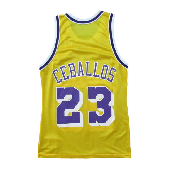 Los Angeles Lakers Cedric Ceballos Basketball Champion Jersey Sz 40