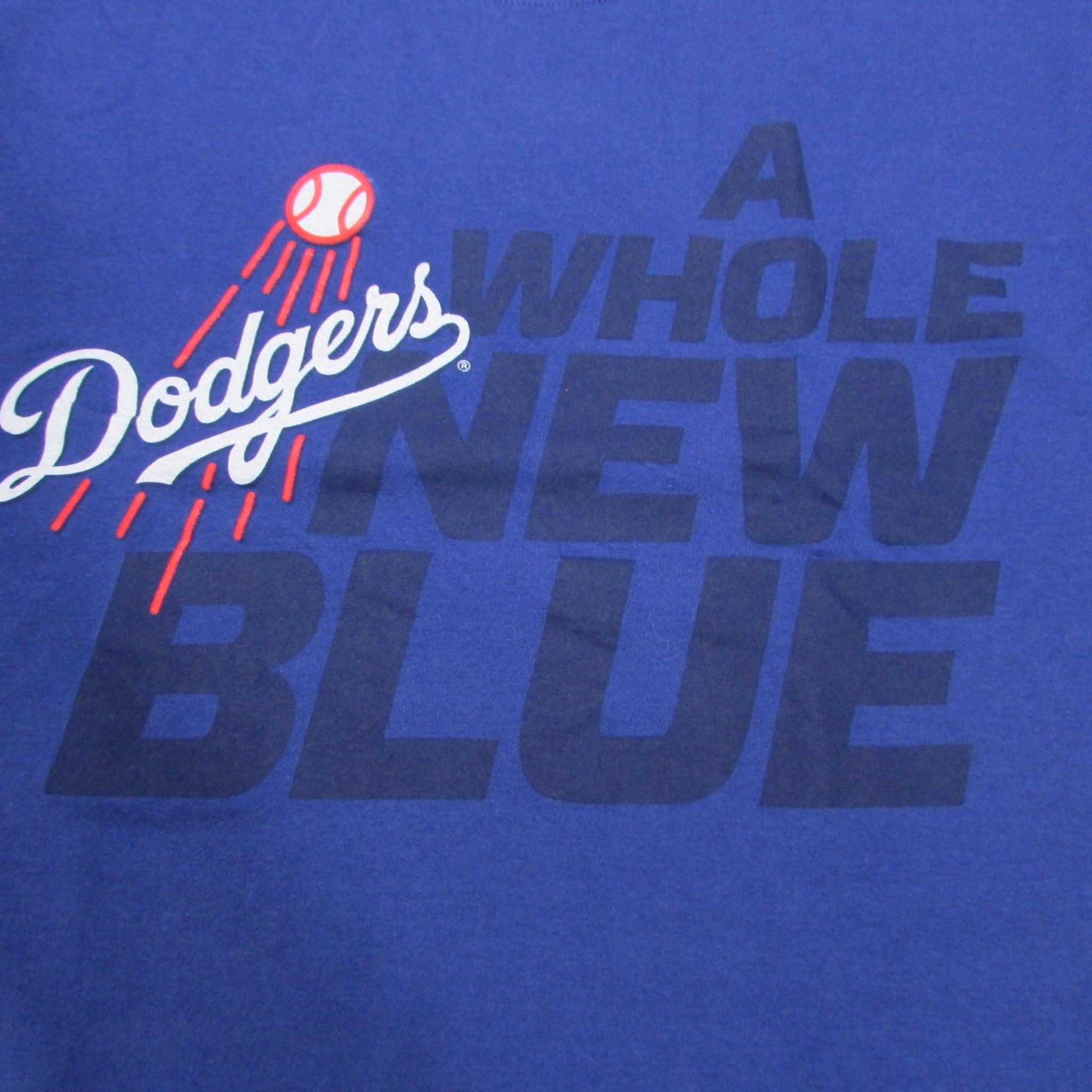 Los Angeles Dodgers Baseball T-Shirt A Whole New Blue Sz M
