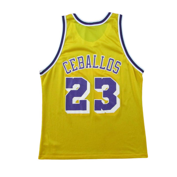Los Angeles Lakers Cedric Ceballos Basketball Champion Jersey Sz 48