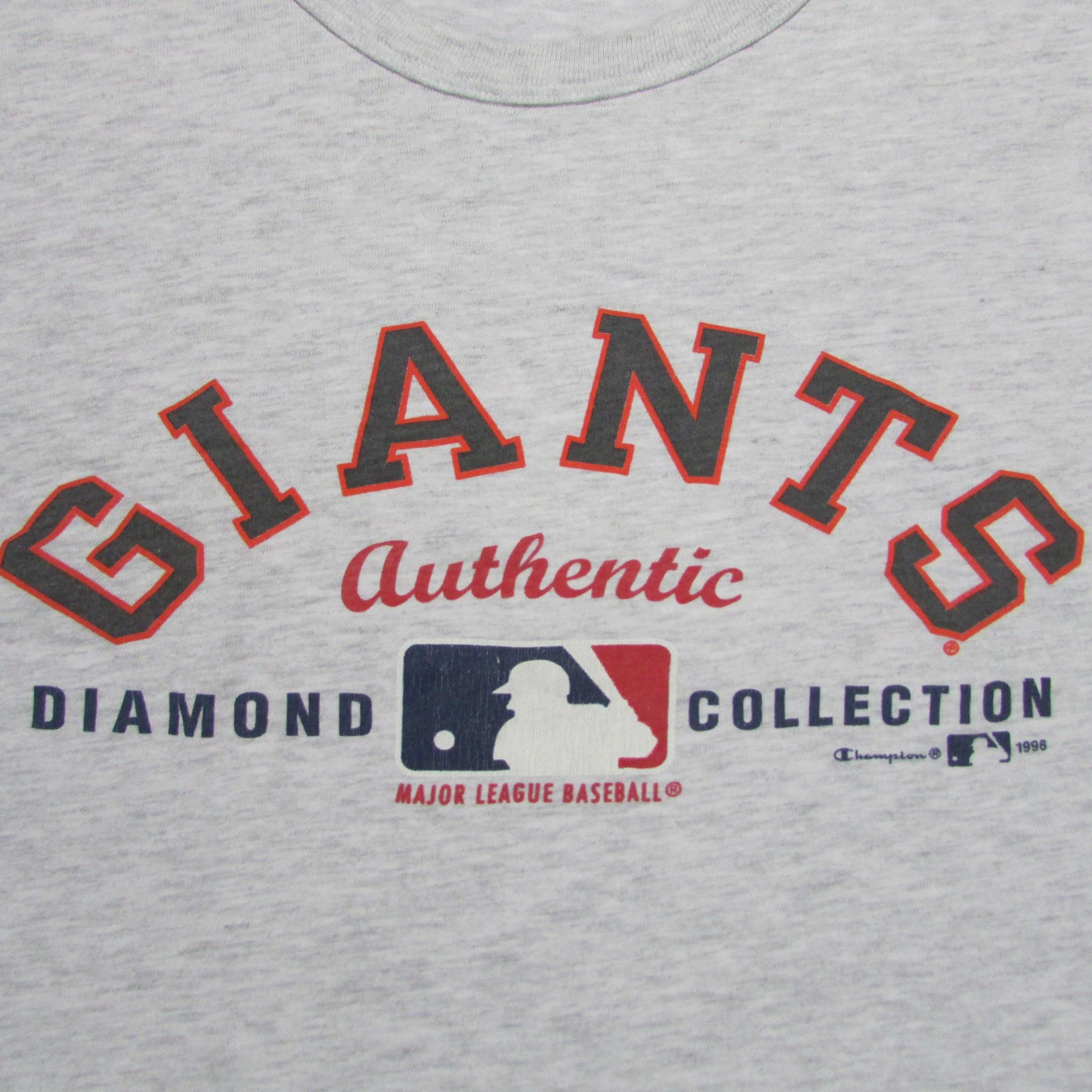 San Francisco Giants Vintage Baseball Grey T-Shirt CHAMPION Sz XL