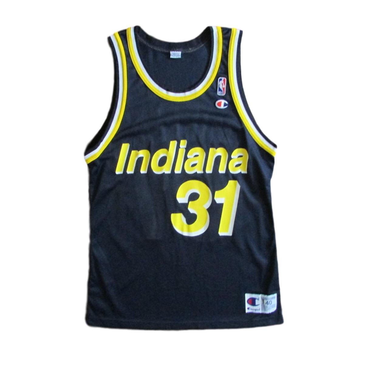 Indiana Pacers Reggie Miller Basketball Champion Jersey Sz 40