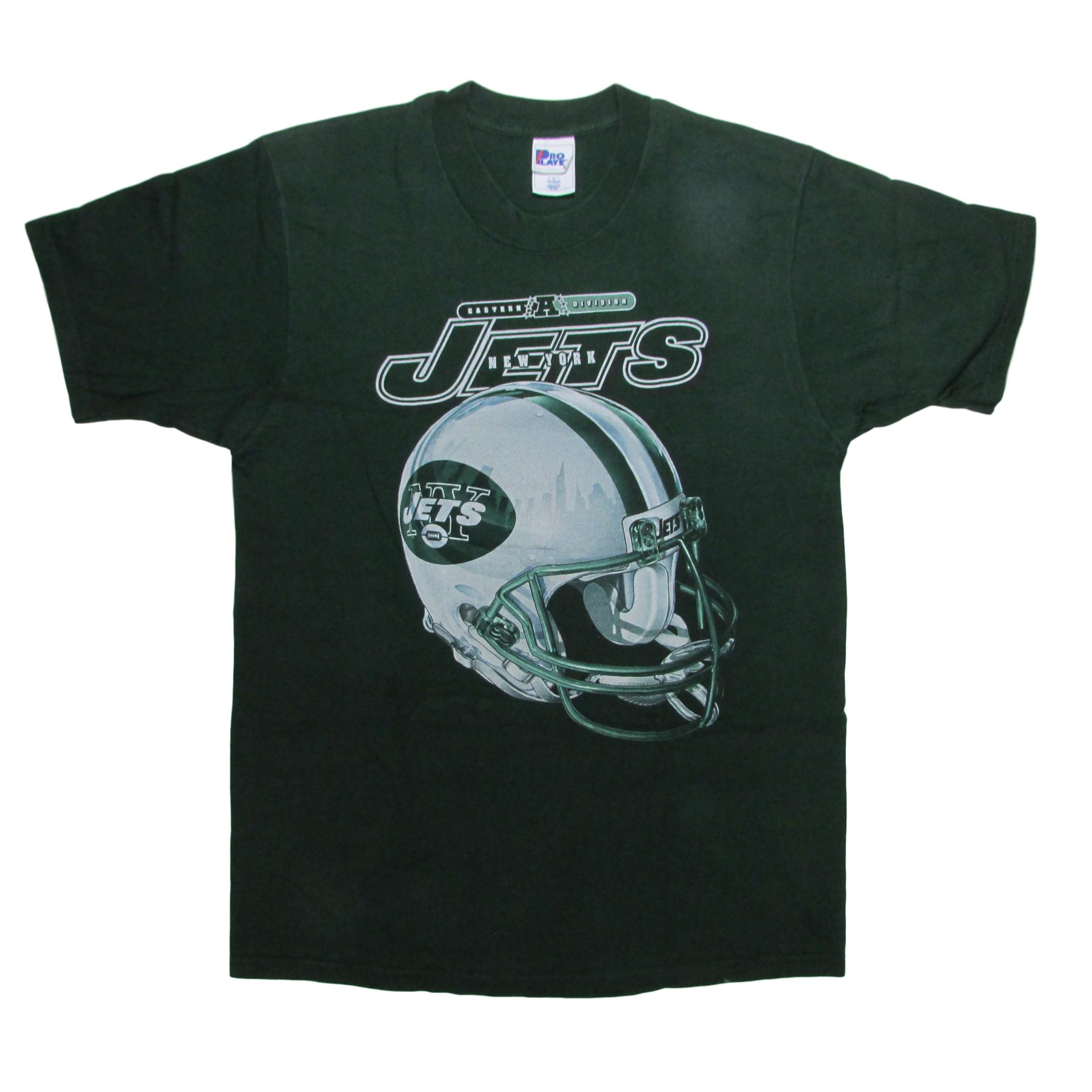 New York Jets New York City Shadow Helmet Football T-Shirt Pro Player Sz L