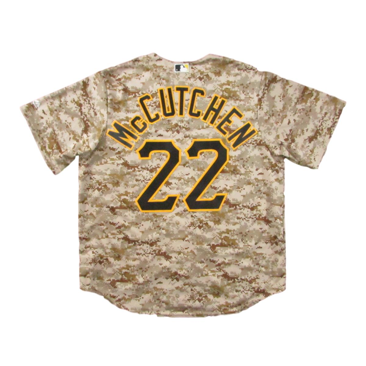 Pittsburgh Pirates Andrew McCutchen Camouflage Baseball Jersey Sz XL