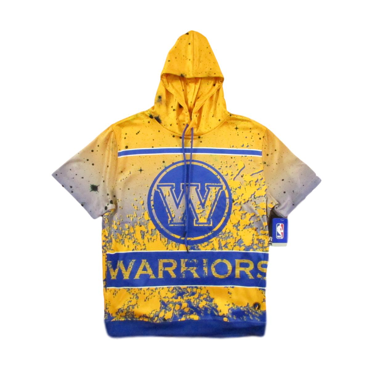 Golden State Warriors Short Sleeve Basketball Hoodie Sweater
