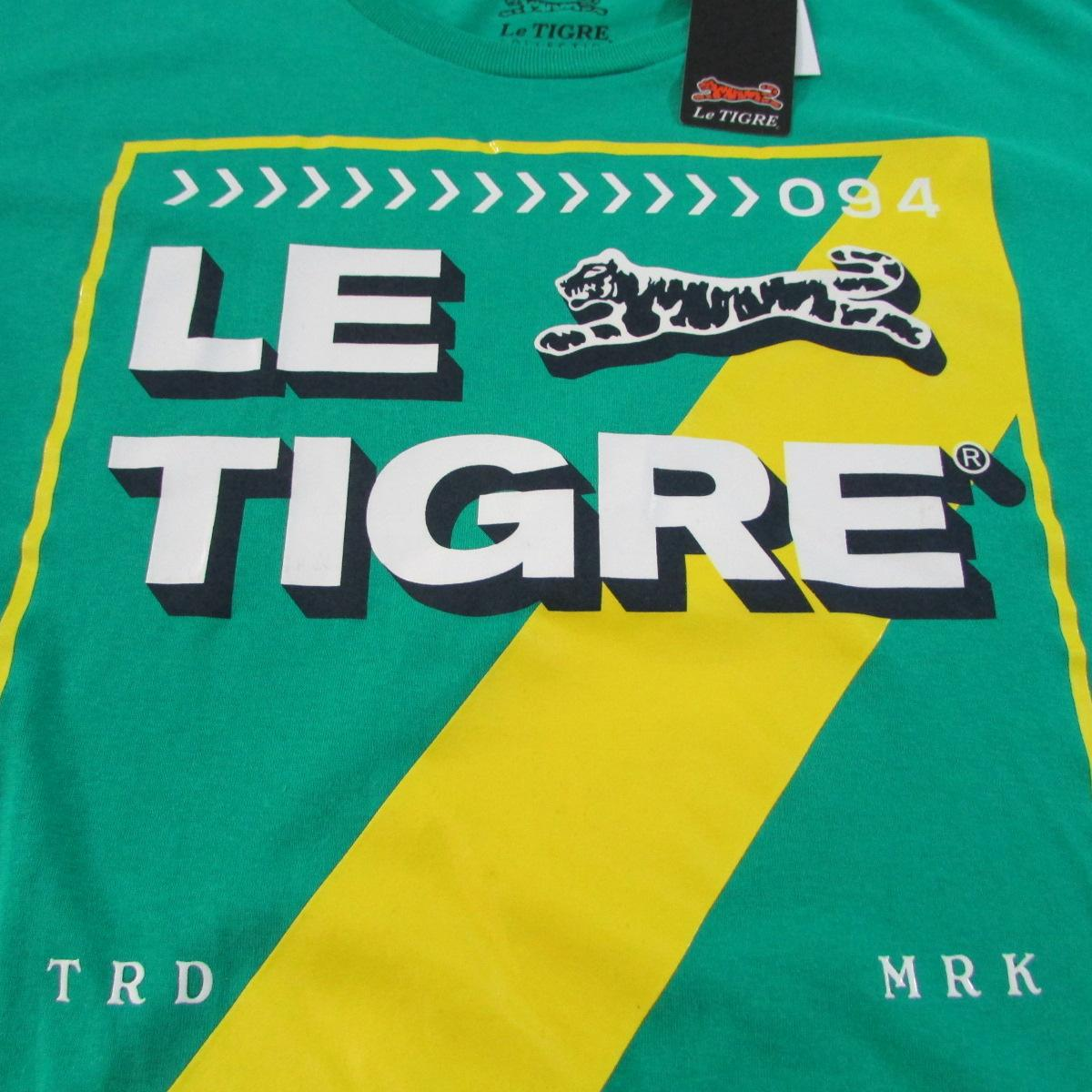Le Tigre Green Euro Stripe T-Shirt