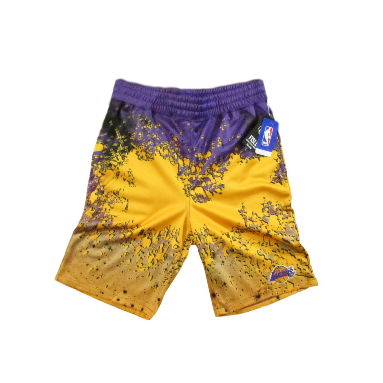 Los Angeles Lakers Paint Splatter Basketball Shorts